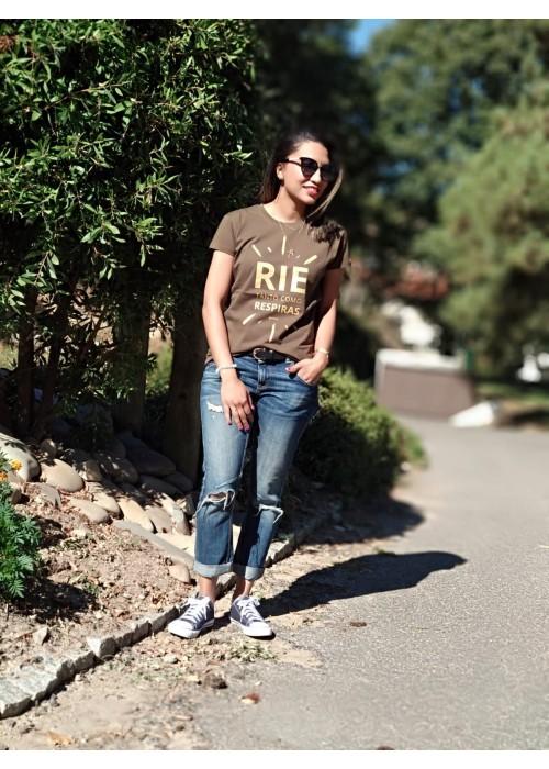 """Camiseta """"Ríe"""""""