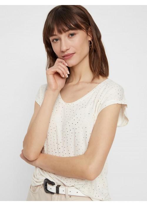 Camiseta topos blanca