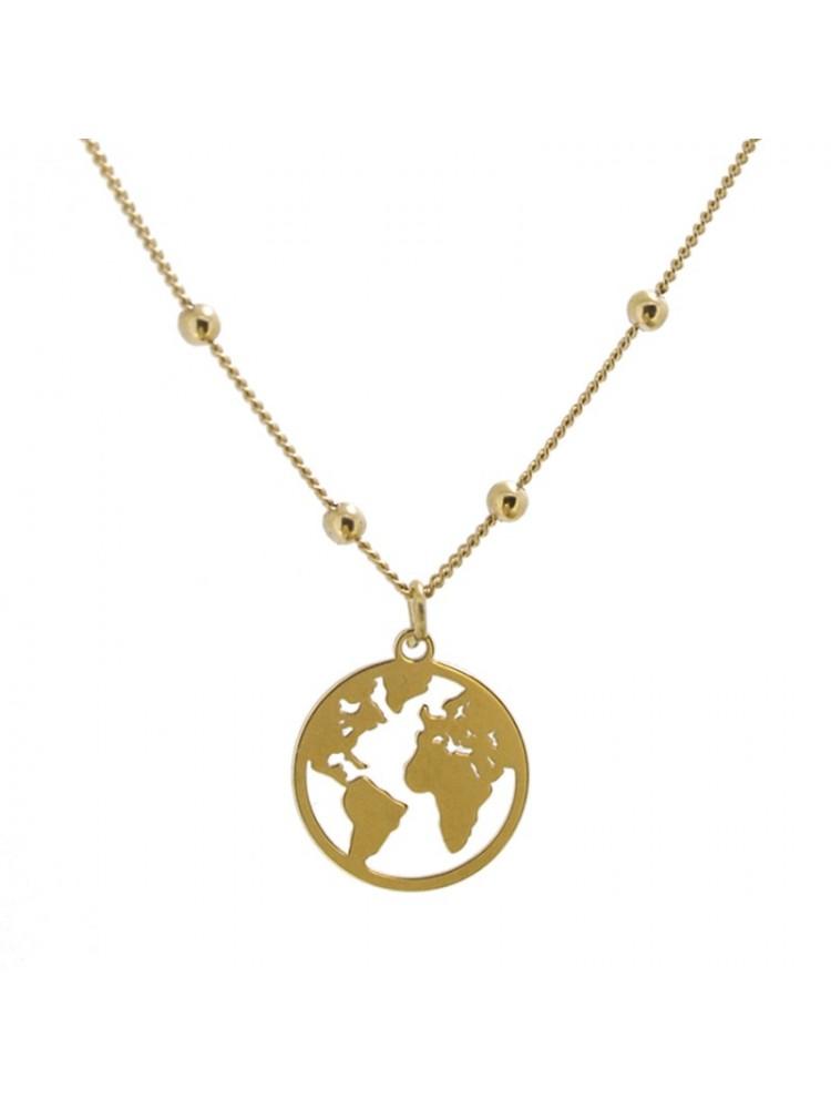 nuevos productos para venta al por mayor fecha de lanzamiento Collar mundo oro -Dandalion Clothes